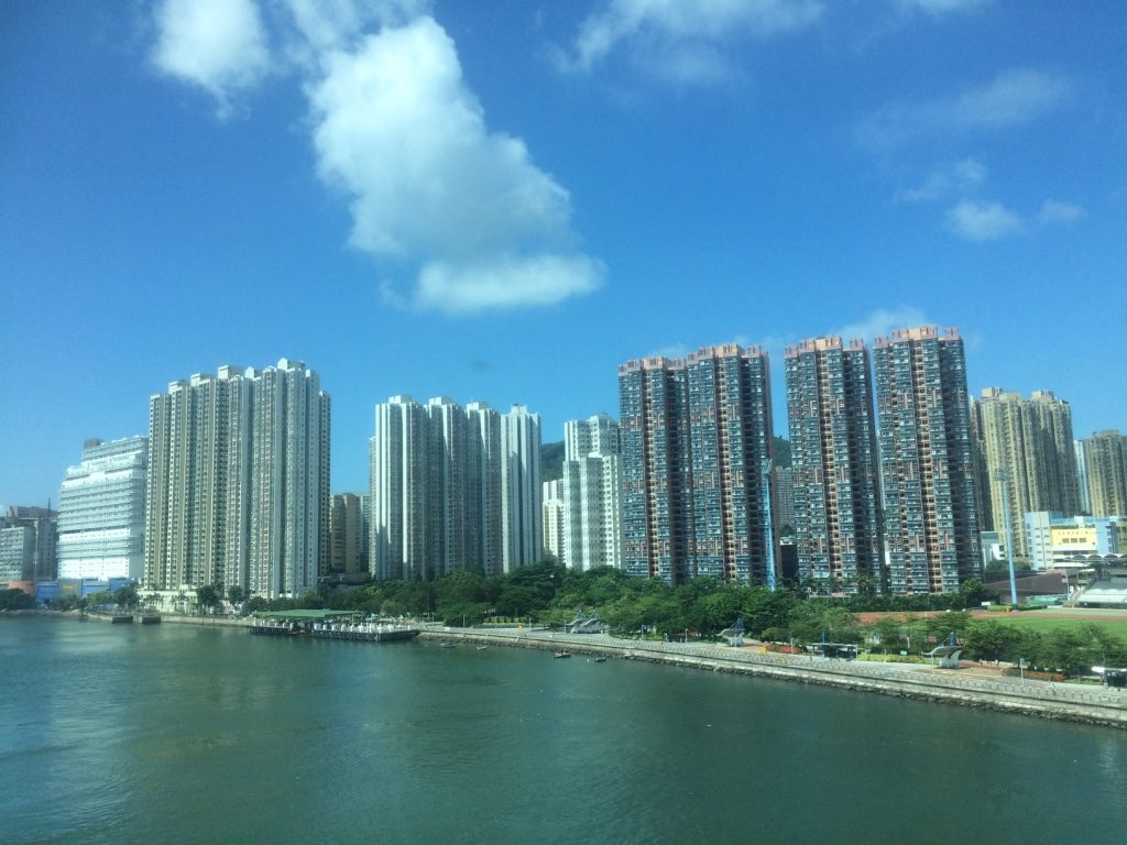 Sunny day in Hong Kong. Passed by a lot of these apartment cities